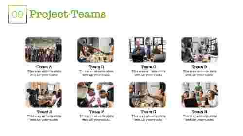 Project teamwork powerpoint template