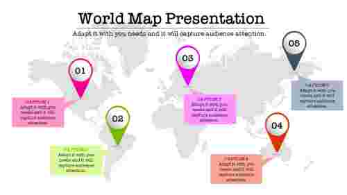multi%20color%20world%20map%20powerpoint%20slide%20with%20locatiopn%20icon