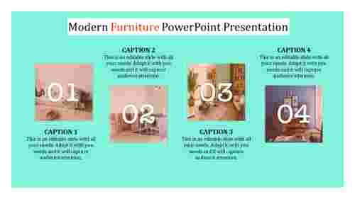 Modern furniture powerpoint templates with full trending designs