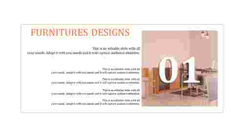beautiful and Best furniture powerpoint template with
