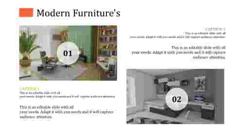 Modern furniture powerpoint templates with innovative designs