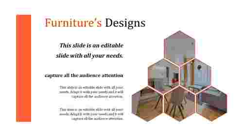 Best furniture powerpoint template - six hexagonal