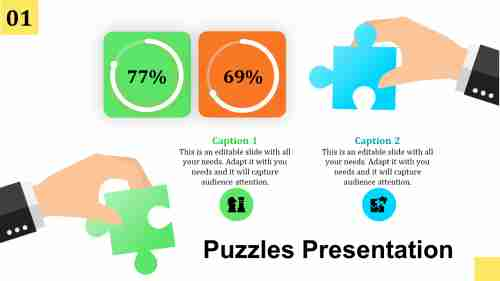 Creative powerpoint puzzle template