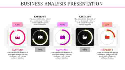 business analysis presentation templat - Square shapes