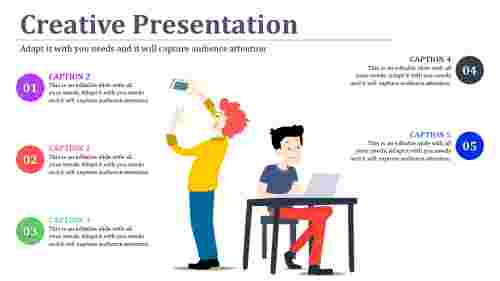 Human imaged creative powerpoint presentation