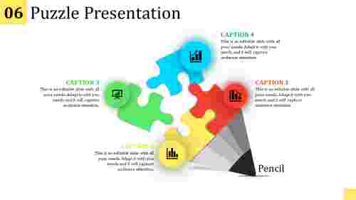 puzzle presentation template - Pencil model
