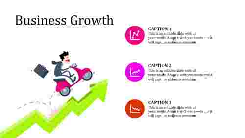 business growth PPT templates-growth arrow model