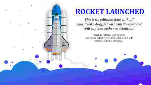 rocket launched powerpoint template - Technology