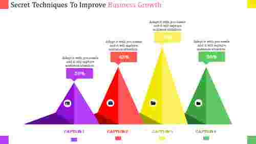 business growth presentation template - Mountain model