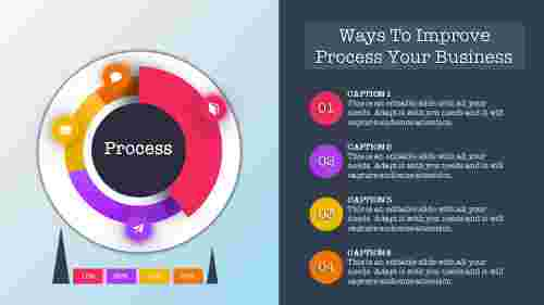 process powerpoint template with captions