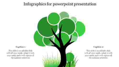 infographics for powerpoint presentation - Tree model