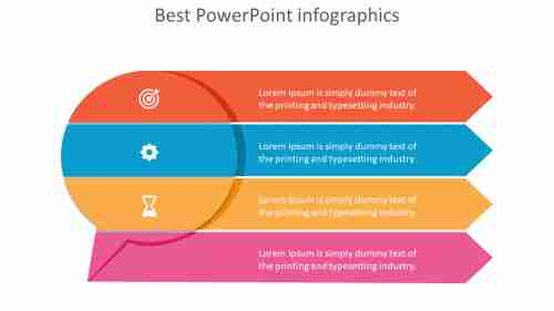 Best%20%20PowerPoint%20Infographics%20PPT%20Template%20With%20Four%20Arrows