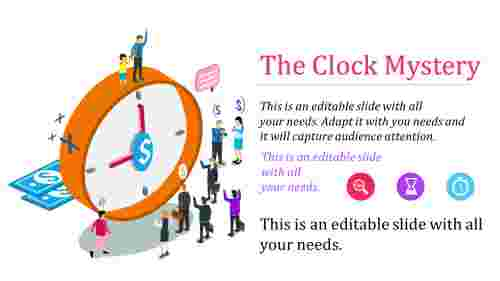 Amazing clock powerpoint template
