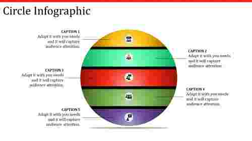 circle infographic powerpoint with multi-colors