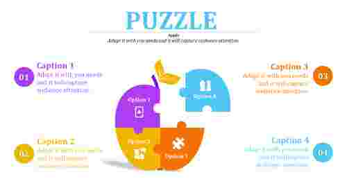 Apple model template puzzle powerpoint