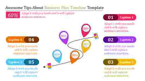 Teardrop Business Plan Timeline Template
