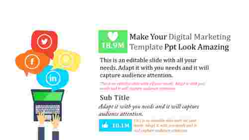 Social media digital marketing template ppt