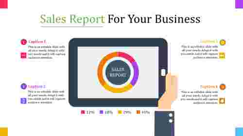 process sales report template