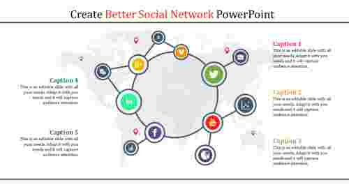 Wider - social network powerpoint template
