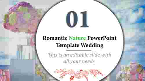 nature powerpoint template - floral design