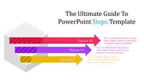 powerpoint steps template with arrows