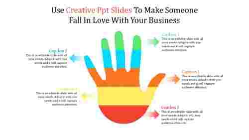 creative powerpoint slides - hand model
