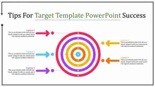 Target template powerpoint - Flat Donut