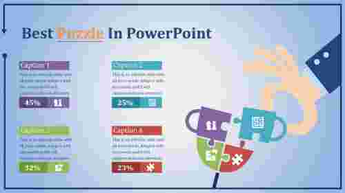 puzzle in powerpoint - multi color