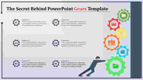 powerpoint gears template with human icons