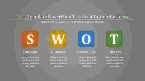 Conceptual SWOT tempalte powerpoint