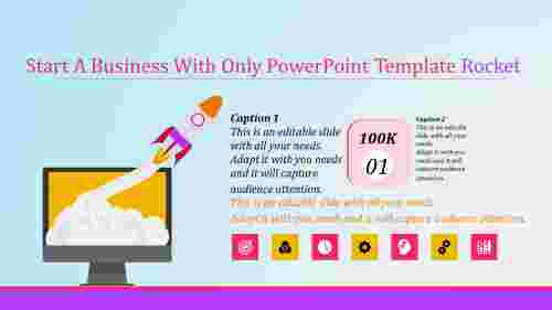 animated powerpoint template rocket