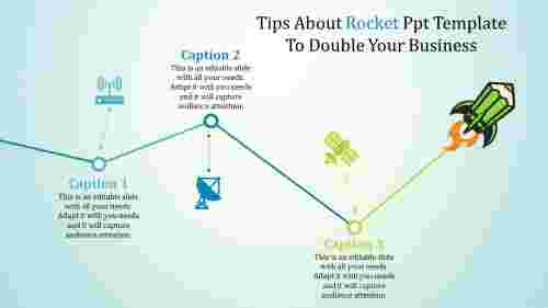 rocket powerpoint template - route to success