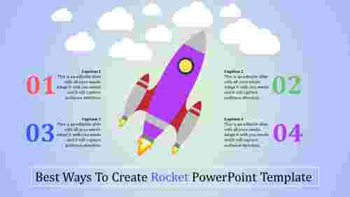 rocket powerpoint template - stages of growth