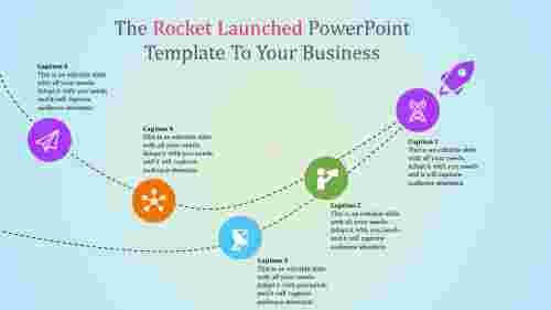 rocket timeline powerpoint