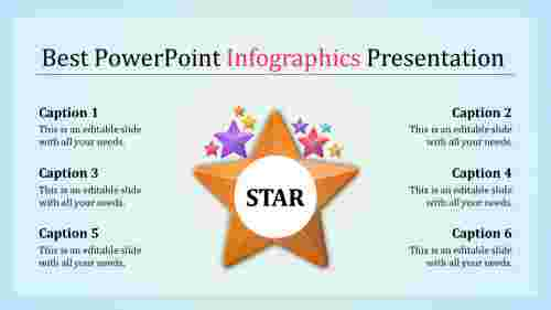 best powerpoint infographics - star shape