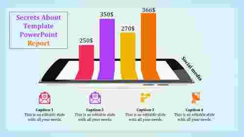 template powerpoint report - bar chart
