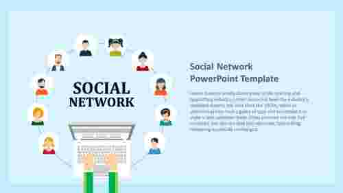 social network powerpoint template - connecting people