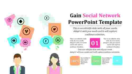trending social network powerpoint template