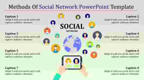 amazing social network powerpoint template