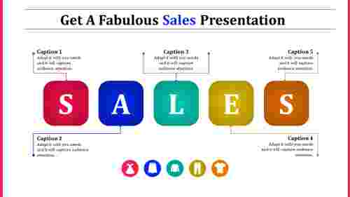 Sales presentation ppt - Horizontal rounded rectangle shape