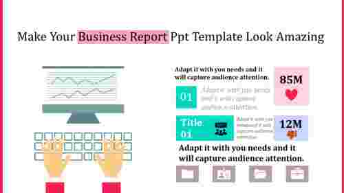 business report powerpoint template - analysis