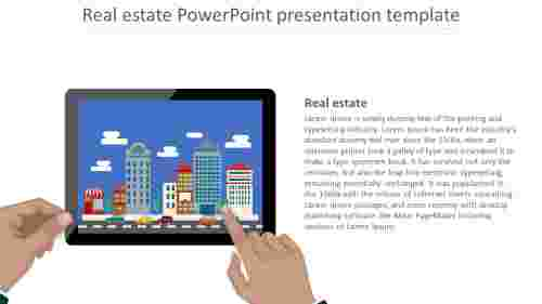 Simple Real Estate Powerpoint Presentation Template