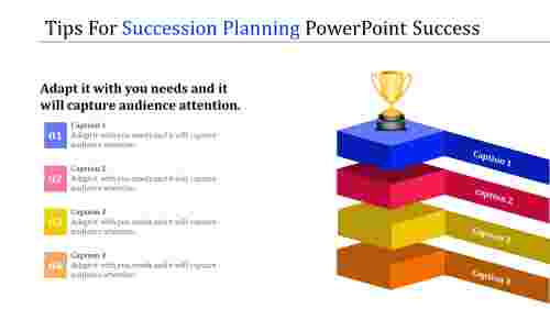 succession planning powerpoint - multi color