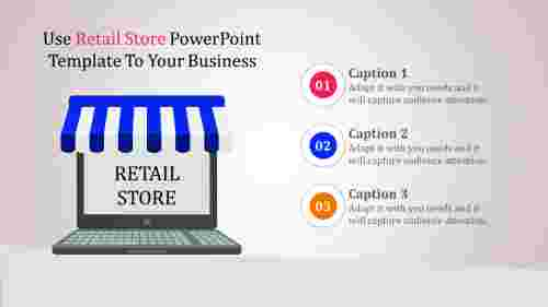 retail store powerpoint template - multicolor