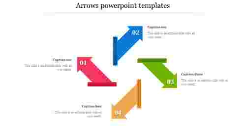 Arrows powerpoint templates with guides