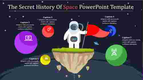 Achievement space powerpoint template