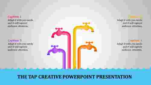 creative powerpoint presentation - four taps