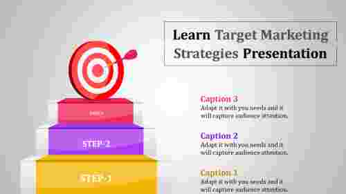 Three steps target marketing strategies