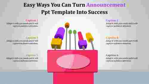 AnnouncementPPTtemplateWithMicdiagrams