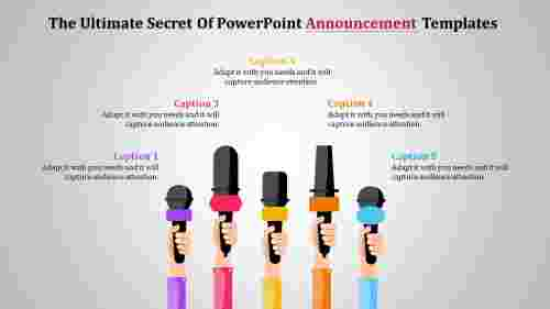 Communication Powerpoint Announcement Templates